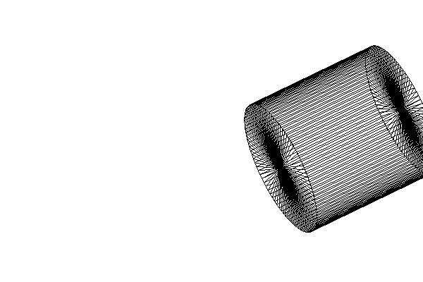 Cylinder, 20 times translate X