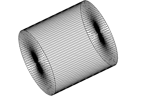 Cylinder, 4 times scale plus