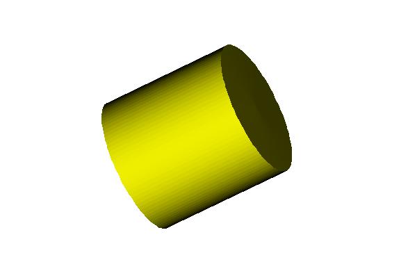 Cylinder, RGB(255,255,0), Light (0,0,10)